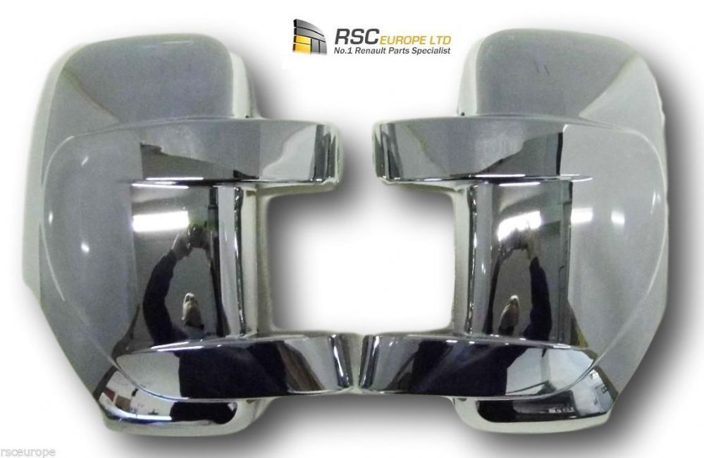 Renault Master Chrome Door Mirror Cover Cap Pair Vauxhall Movano Nissan NV400